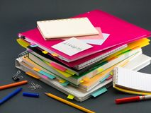 The Pile of Business Documents; Submit.  Royalty Free Stock Image