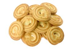 Pile of butter cookies Royalty Free Stock Photos