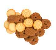 Pile of butter cookies Stock Image