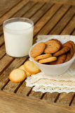 Pile of butter cookies in box Royalty Free Stock Image