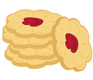 Pile of buttery cookies. Stock Photography