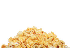 Pile of buttery popcorn isolated Royalty Free Stock Photo