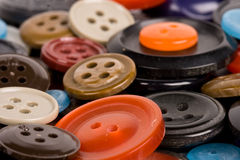 Pile of buttons close up Royalty Free Stock Image