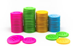 Pile of buttons of many colors Royalty Free Stock Image