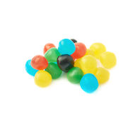 Pile of candy ball sweets isolated Royalty Free Stock Photo