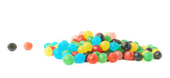 Pile of candy ball sweets isolated Royalty Free Stock Image