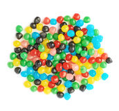 Pile of candy ball sweets isolated Royalty Free Stock Images