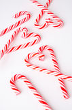 A pile of candy cane on white background Royalty Free Stock Photos