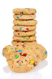 Pile of candy chocolate cookies Royalty Free Stock Images