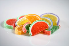 Pile of candy fruit slices Stock Image