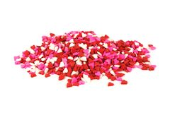 Pile of candy heart sprinkles Royalty Free Stock Photo