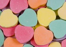 Pile of candy hearts Royalty Free Stock Photos