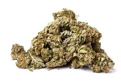 Isolated Marijuana Pile Stock Image