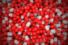 Pile of capsules. Stock Images