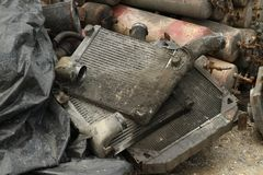 Pile of car intercooler. Wait for recycle Stock Photography