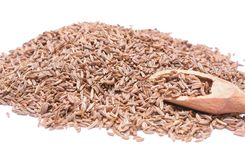 Pile of Caraway Seeds  on White Background Royalty Free Stock Photo