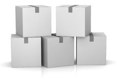 Pile of card boxes Royalty Free Stock Photo