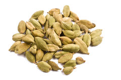 Pile of cardamom isolated close up Stock Photos