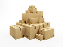 Pile of cardboard box Royalty Free Stock Image