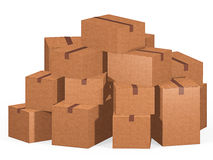 Pile of cardboard boxes Stock Images