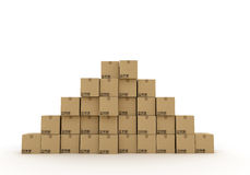 Pile of cardboard boxes Royalty Free Stock Photos