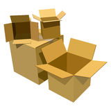 Pile of cardboard boxes Royalty Free Stock Image