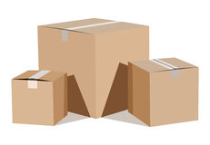 Pile of cardboard boxes Stock Photography