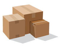 Pile of cardboard boxes Royalty Free Stock Images