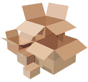 Pile of cardboard boxes Royalty Free Stock Photography