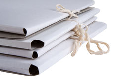 Pile of cardboard folders Royalty Free Stock Image