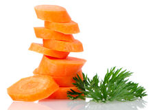 Pile of carrot slices Royalty Free Stock Photography