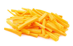 Pile of carrot sticks isolated Stock Photography