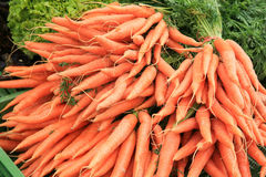 A pile of carrots on a farmer's market Royalty Free Stock Photo
