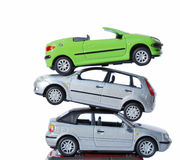 Pile of cars Royalty Free Stock Photography