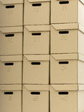 Pile  of carton boxes arranged on second one Stock Images