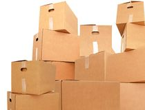 Pile of carton Stock Image