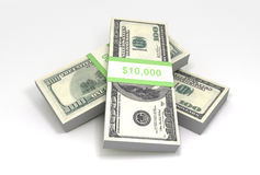 Pile of cash Stock Photos