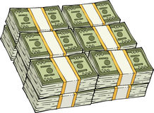 Pile of cash Stock Image