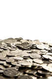 Pile of cash coins Stock Images