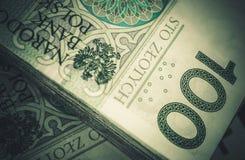Pile of Cash Polish Zloty Royalty Free Stock Photo