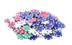 Pile of casino chips Royalty Free Stock Photography