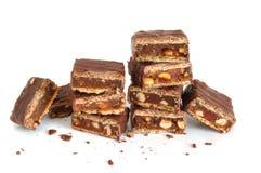 pile cassée de chocolat image stock
