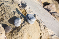 Pile cassée de pierres de zen Photographie stock libre de droits