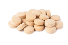 Pile of cat vitamins Stock Photos