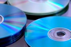 Pile cd bleue Photos libres de droits
