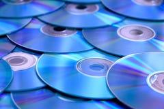 Pile cd bleue Photographie stock libre de droits