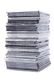 Pile CD boxes Stock Photo
