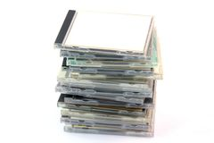 Pile of cd cases Royalty Free Stock Photo
