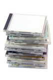 Pile of cd cases with path Stock Image