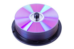 Pile of cd or dvd disks Royalty Free Stock Image